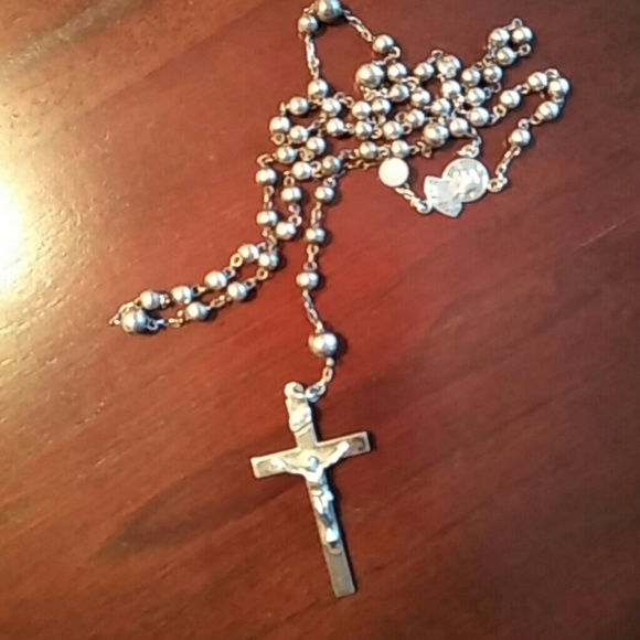 Jewelry - Vintage STERLING Childs Rosary